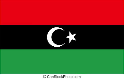 new flag of Libya - vector - LIBYA, AUGUST 2011 - new flag...