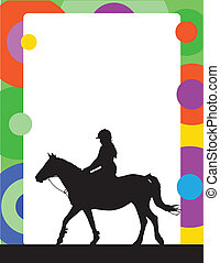 Horse Standing - A silhouette of a horse and rider is part...