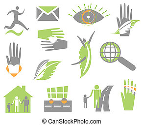 Set creative icon Vector - Set creative icon on white Vector...