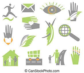 Set creative icon. Vector