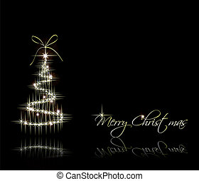 Christmas Background with tree. Vector - Vector illustration...