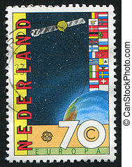 flag - NETHERLANDS - CIRCA 1983: stamp printed by...