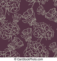 """Vector seamless floral pattern (from my big \""""Floral..."""