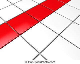 3d red white cube background area abstract