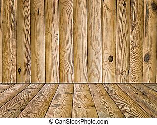 wooden floor and wall - The abstract background, wooden...