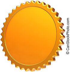 Golden blank award medal - Blank golden medal award design...