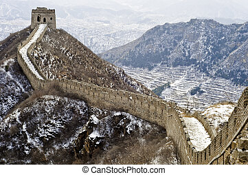Great Wall of China - A section of the great wall of China...