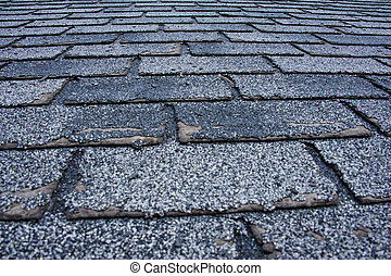 granizo, dañado, techo