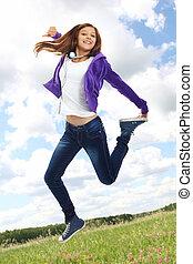 Energetic teenager
