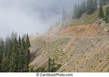 mountain driving in Colorado