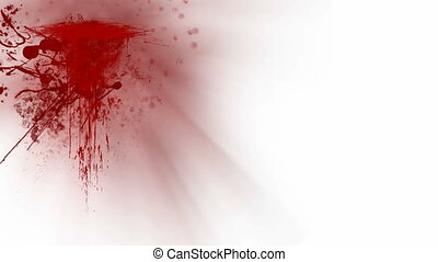 Blood splatters over white background