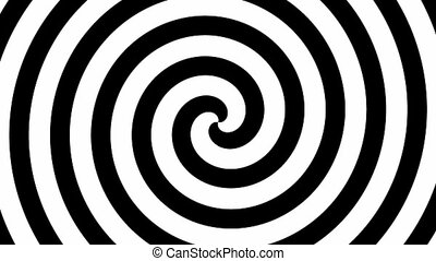 Hypno circle seamless loop - Black and white hypnosis circle...