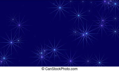 Starry sky  motion background (seamless loop)