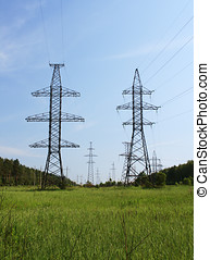 High voltage line in the countryside