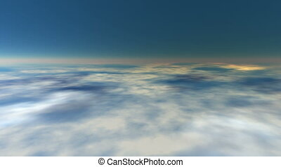 Earth atmosphere seamless loop - Journey over a earth...