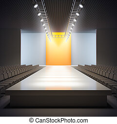 Fashion empty runway - A 3D illustration of fashion empty...