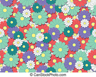 colourfull flower background ready for tiling