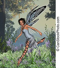 Bluebell Fairy in Spring Woodland - Pretty fairy in spring...