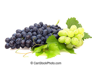 Bunch of grape - Bunch of grape isolated on a white...