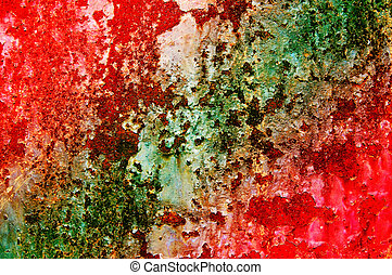 Grunge texture of old wall with rusty spots.