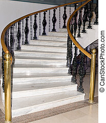 Modern staircase. - Elegant stairway in a modern house.
