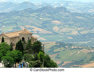 View of the surrounding valley from the heights of San...