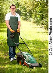 Smiling gardener