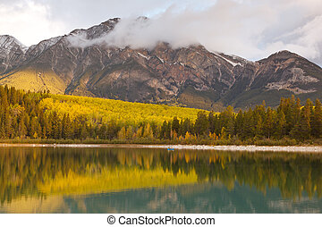 Patricia Lake and Pyramid Mountain, Canada