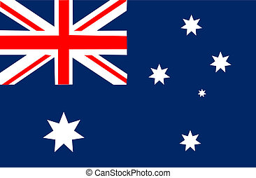Australia flag isolated on white background