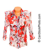 Chic  blouse isolated on a white background.