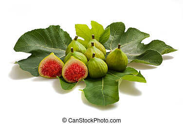 Fichi - Group of figs isolated on white