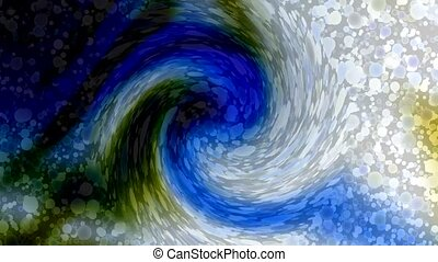 swirl particle and cyclones hole