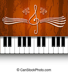 鋼琴, 矢量, 設計
