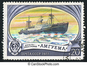 icebreaker - RUSSIA - CIRCA 1977: stamp printed by Russia,...