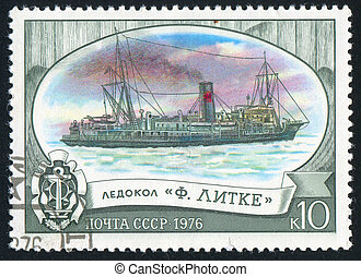 icebreaker - RUSSIA - CIRCA 1976: stamp printed by Russia,...