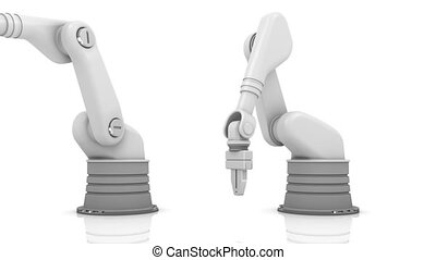 Industrial robotic arms FALSE - Industrial robotic arms...