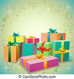 Gifts - A Pile of Gift Boxes