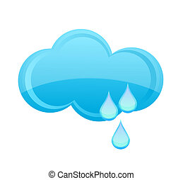 glass weather cloud symbol isolated