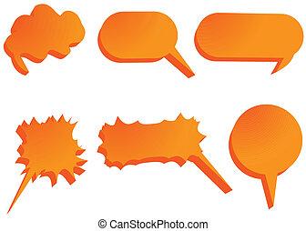 3d communication bubbles