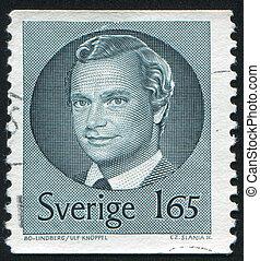 King Carl XVI Gustaf - SWEDEN - CIRCA 1981: stamp printed by...