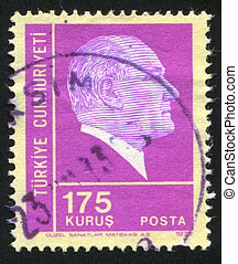 Kemal Ataturk - TURKEY - CIRCA 1972: stamp printed by...