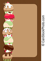 Cupcake Invite/Menu - Illustrated layout of a party...