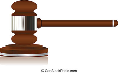 Wooden Justice Gavel - Vector - Wooden Justice Gavel