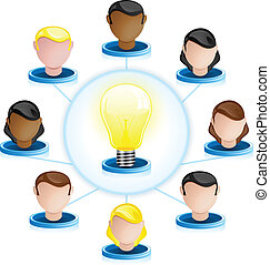 Creativity Network Crowdsourcing - Vector - Creativity...