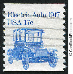 stamp car - UNITED STATES - CIRCA 1981: stamp printed by...