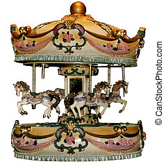 Old carousel - This is an old carousel illuminated with a...