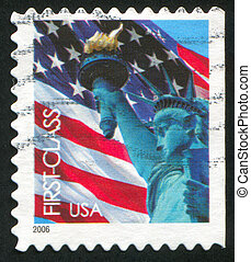 Statue of Liberty - UNITED STATES - CIRCA 2006: stamp...