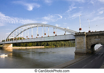 The Old Bridge of Szeged - Bridge over Tisza in Hungary