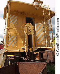 Caboose - Yellow caboose from the Rio Grande Railroad in...