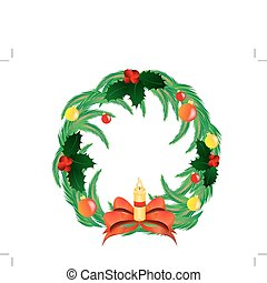 Christmas eve isolated on white background